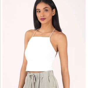 Tobi white crop top